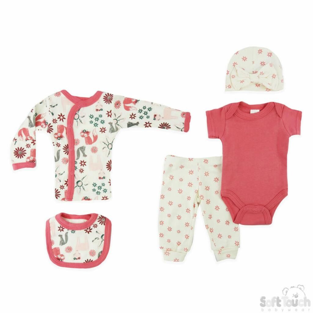 3lb premature baby clothes outfit girls FOREST FRIENDS 3-5lb