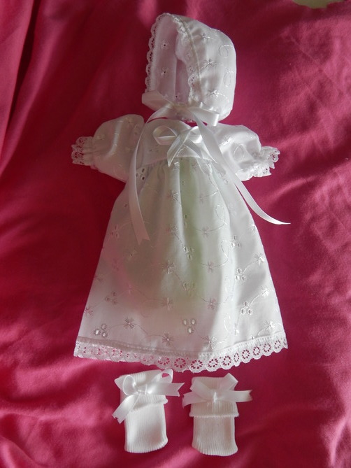 girls baby burial gown Bereavement SWEETYPIE 0-1lb born 23-24 weeks