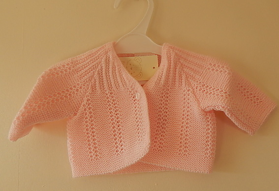 baby girls premature cardigan NEAT KNITS Baby Pink tiny babies in 3-5lb