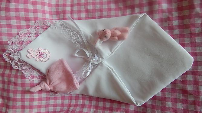 angel baby pouch fetal demise PINK full set born 16-17 week