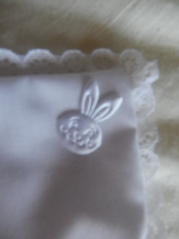 Unisex Stillborn baby clothes Sleeping bunny WHITE Tiny SIZES by Something Precious