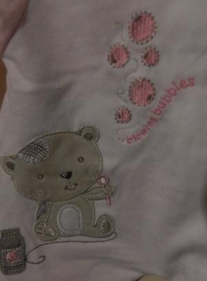 girls premature coat for tiny babies pink BUBBLES 5-8lb small