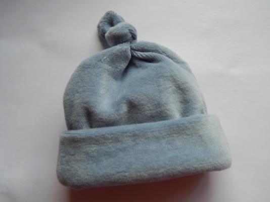 boys premature baby clothes OUTDOOR HAT dusky blue 3-5lb