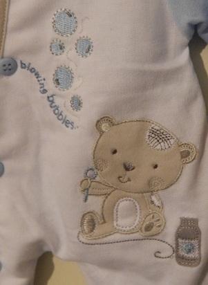 Boys premature baby coat light weight pramsuit BUBBLES 3-5lb