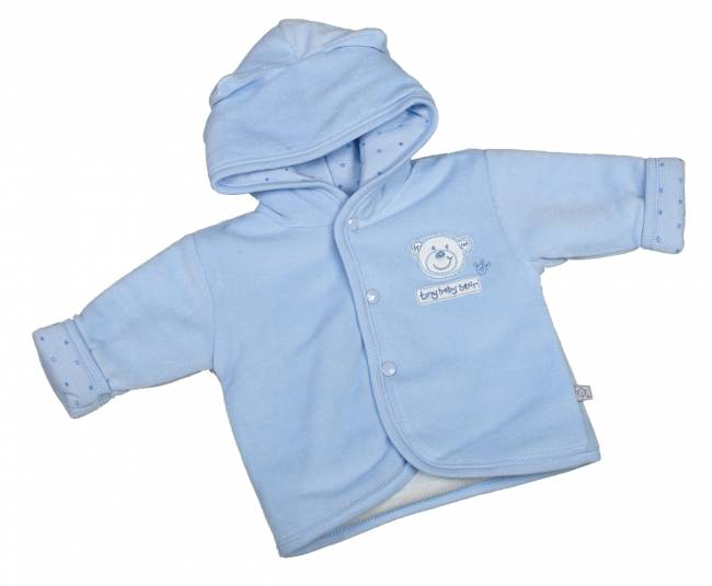 Premature baby clothes coats BLUE 3-5lb TED the Bear jacket car seat or pram