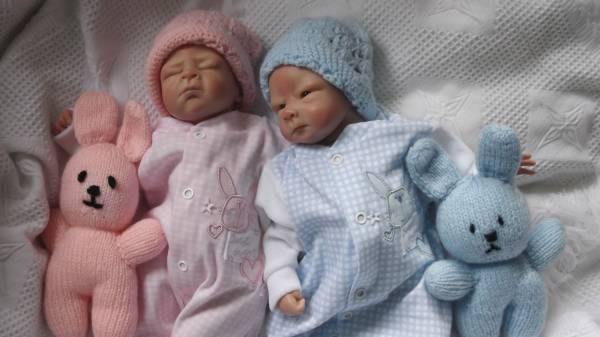 tiny baby clothes sleepsuit baby grow  newborn baby RONNIE RABBIT BLUE 5-8