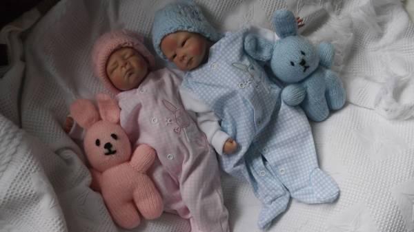 PREMATURE SIZE sleepsuit baby grow  newborn baby RONNIE RABBIT BLUE 5-8