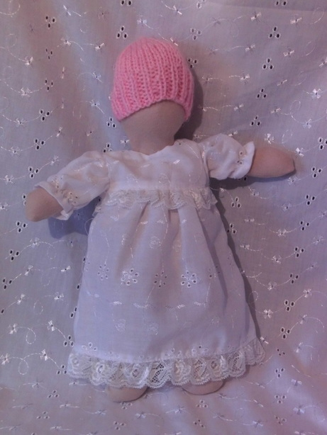 baby bereavement clothes gown nappy WHITE PEARL born 22-24 WEEK