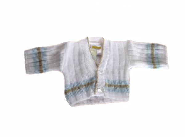 premature baby boys cardigan BEDTIME KNITS  blue  early baby 3-5lb