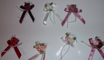 tiny premature babies headband ROSE CLUSTER 1-2lb baby