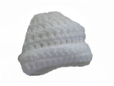 cosy crochet premature baby hat tiny babies hat WARM IN WHITE 2-3LB