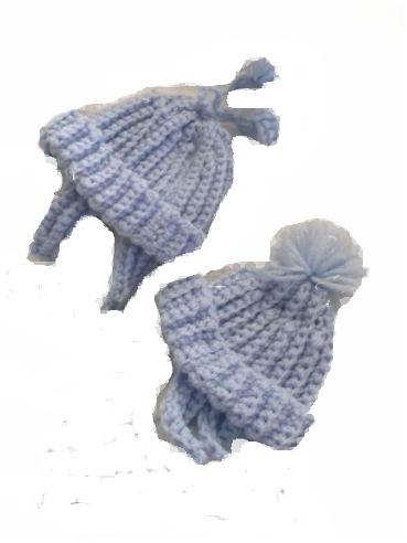 Boys preterm baby clothes  tie hat Pick TASSLE OR BOBBLE 2-3LB