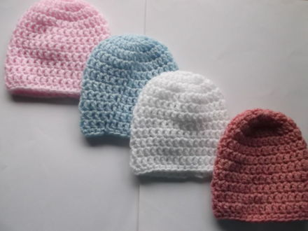 tiny babies hat 5-8LB crochet premature baby hat SOFT WISPER WHITE