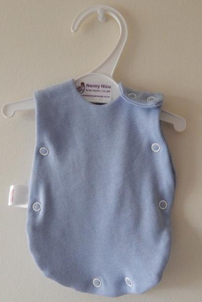 Preterm baba incubator vest blue 1-2lb