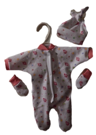 baby bereavement girls very small baby clothes miscarriage GENTLE LADYBIRD 0-1LB