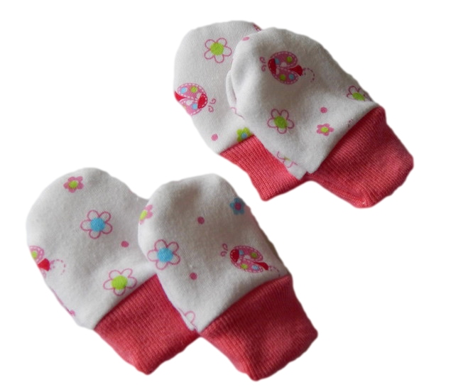 tiny premature baby clothes cotton Scratch Mittens LADYBIRD ISLAND SIZE 3 - 5lb
