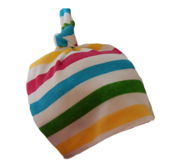 cotton hats prem girls premature baby hat 3-5LB RAINBOW JOY