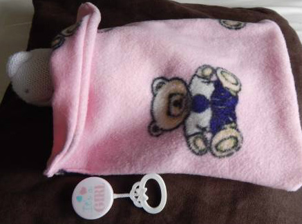 stillbirth baby loss burial blanket bereavement Pink TEDDY RUMPKIN 22-24 WEEK