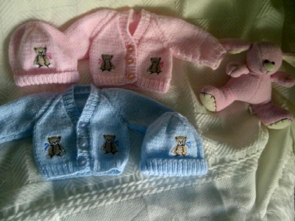 premature baby cardigan tiny BOO BOO BEAR 2- 3LB nanas gift