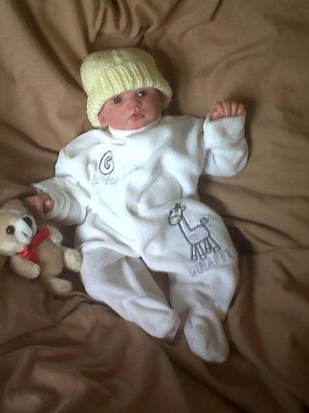 premature baby grow sleepsuit  velour GIGGLE GIRAFFE white 2.0-2.5KG more 2-3lb