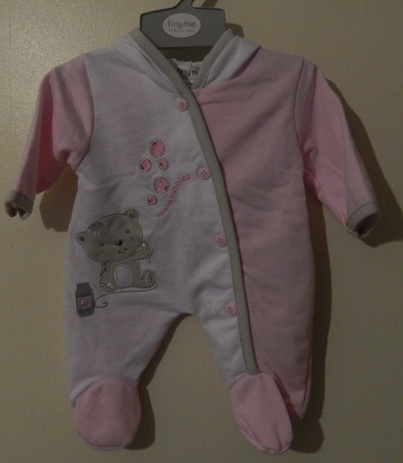 girls premature baby coat comfy light weight pramsuit BUBBLES 3-5lb