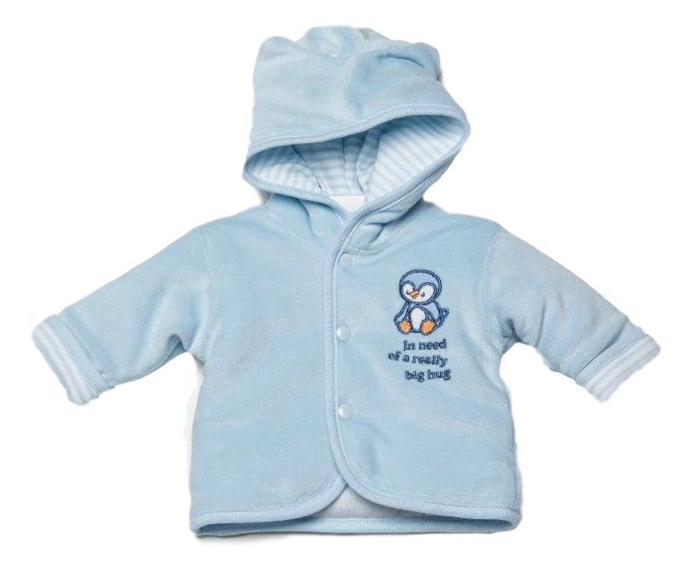 warm tiny premature babies coat blue PERKY PENGUIN 3-5LB