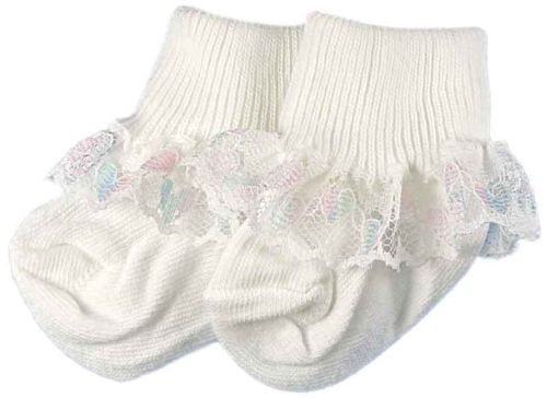Frilly baby socks 5-8lb RAZZLEDAZZLE TRIM 000 socks PREM baby girls