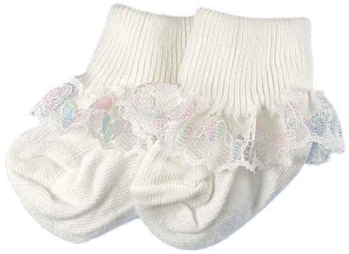 Frilly baby socks 5-8lb RAZZLEDAZZLE TRIM 000 socks PREM baby girls
