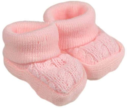 accessories Premature babies shoes cosy tiny baby Bootees PINKY   5-8lb