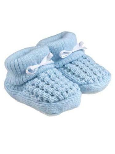 Boys newborn shoes early baby Bootees WHITE OR  TRUE BLUE 5-8lb