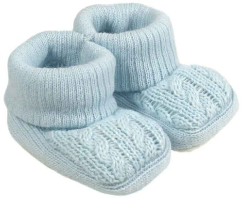 Premature baby shoes First cosy  Soft early tiny baby Bootees BLUE 5-8lb