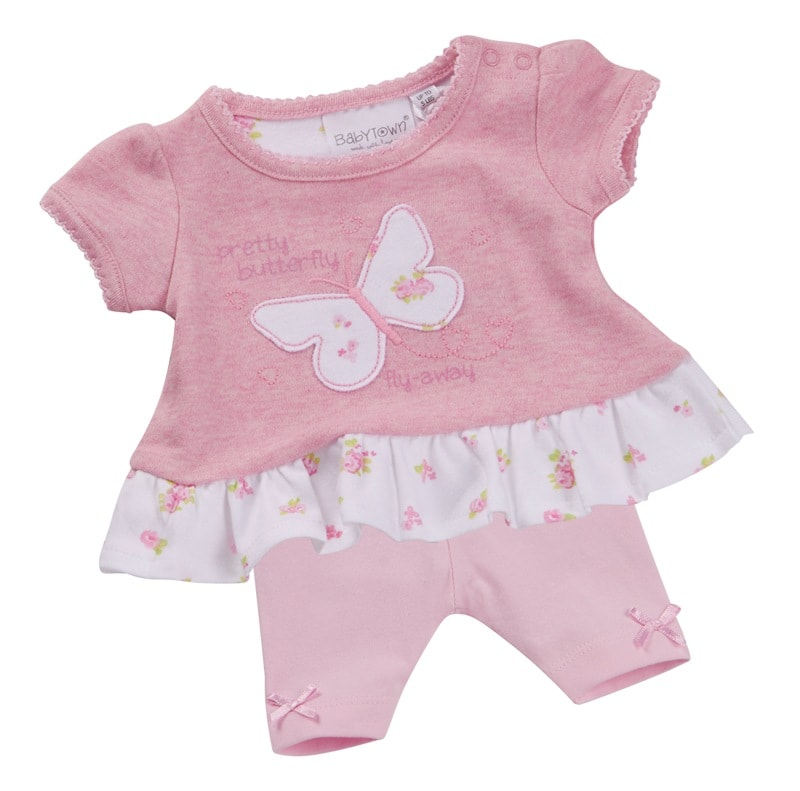 2 piece Premature baby dress set  LITTLE MISS BUTTERFLY 3-5lb or 5-8lb