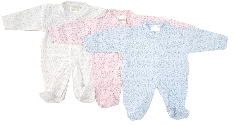girls  Baby grow WOOLEY SHEEP 1.5-2LB pink
