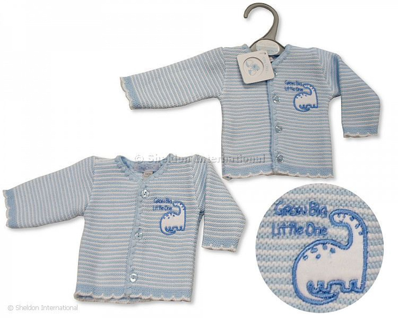 premature baby clothes tiny cardigan LITTLE BLESSING Blue 3-5lb
