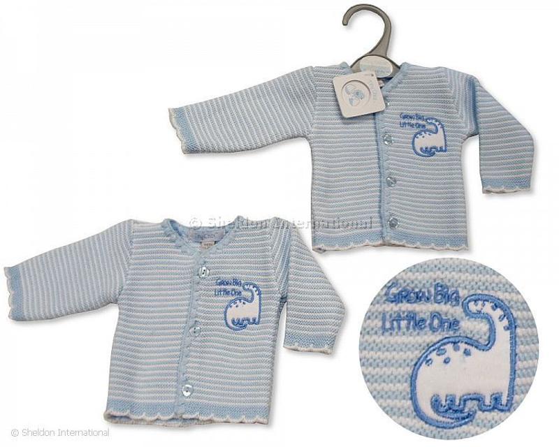 prem baby clothes tiny cardigan LITTLE BLESSING Blue 3-5lb