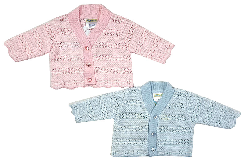 baby girls premature cardigan BEDTIME KNITS  Pink tiny baby 3-5lb