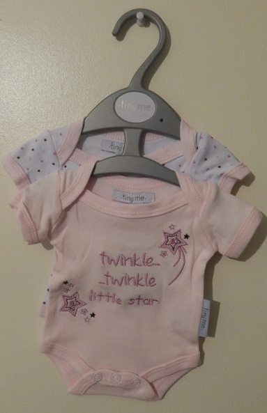 girls body vests pack 2 premature babies in 5-8lb small LITTLE STAR