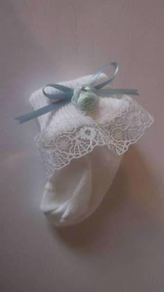 Tiny prem preemie babies socks FRILLY My PETAL blue 5-8lb hand made in Uk