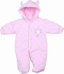 girls Premature baby Padded coat  snowsuit SWEET BEAR 3-5lb pink