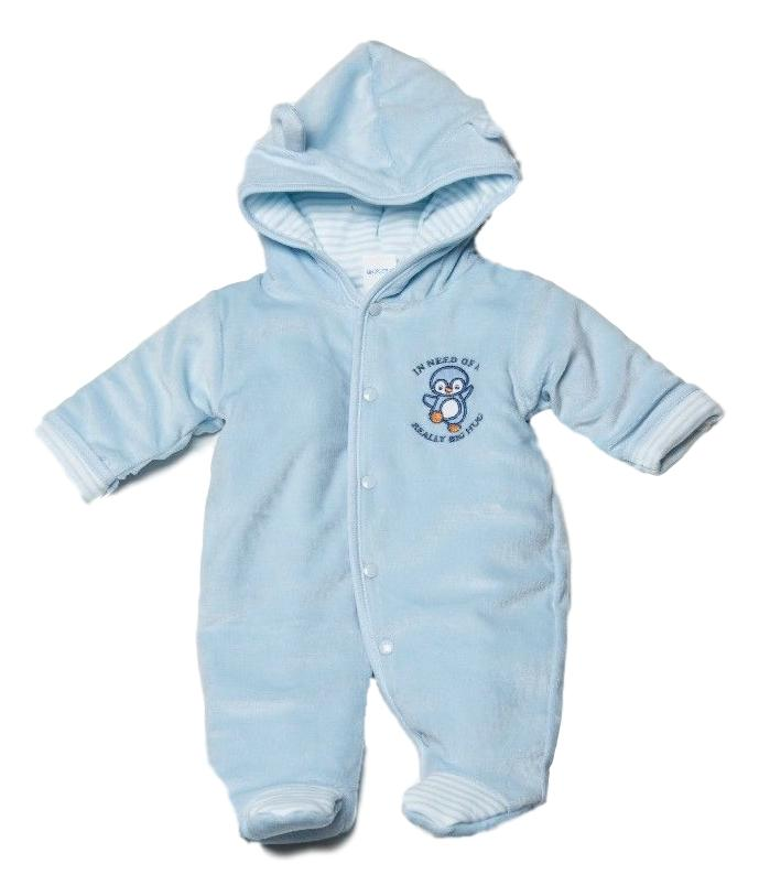 boys premature baby snowsuit 3-5lb TINYBABY coat BLUE SWEET PENGUIN
