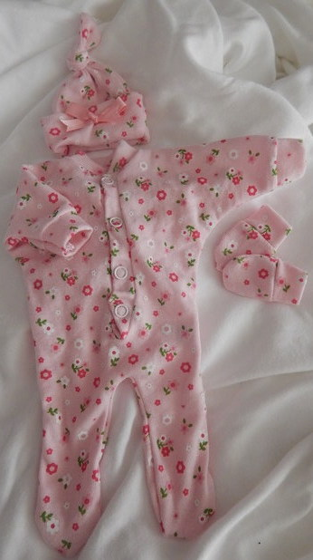 girls premature baby bereament clothes infant born 23-24 week DAISYGARDEN