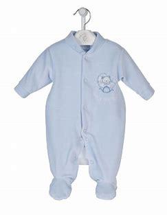 boys premature baby clothes VELOUR sleepsuit daydreams 3-5lb colour blue