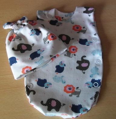 Preterm premature babies clothes Neonatal use NICU vest 2-3lb SAFARI SUNSET
