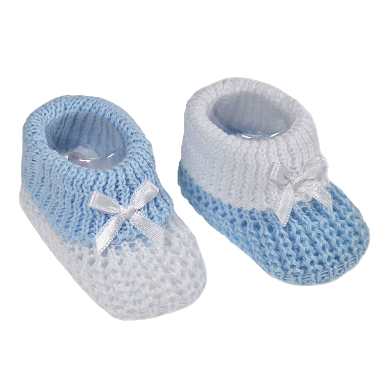 BOYS Premature baby shoes tiny baby Bootees BLUE STRIPES 5-8lb