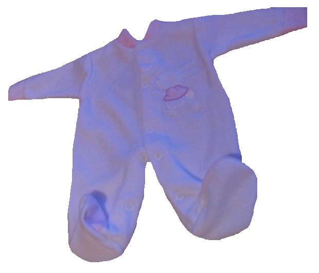Adorable tiny baby sleepsuit premature baby  2-3lb BUNNY DAYSTAR girls