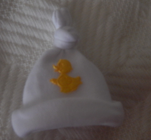 unisex baby burial clothes Micro Knot hat LUVY DUCKY 12cm born 0-250grams