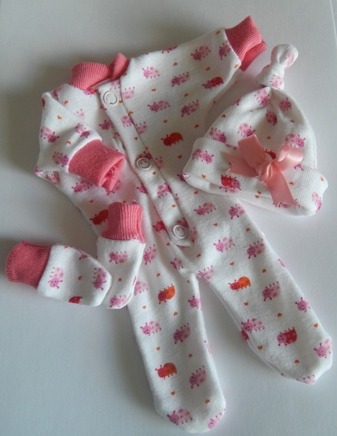 Girls baby stillborn babies bereavement clothes LADYBIRD BALL born 23-24 week