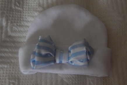 boys premature baby loss burial hat bereavement LITTLE BOW BLUE 0-1lb