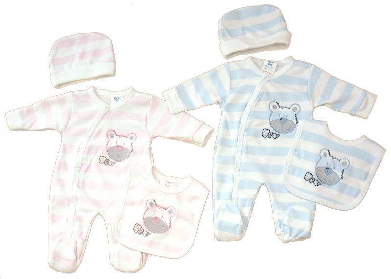 premature babies clothes full outfit ABC BEARS up to 2lb size Pink