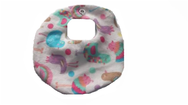GIRLS designer prem baby bibs cotton premature baby sizes 5-8lb PERKY PEACOCK